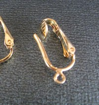 Clip On Earring Findings in Gold Plate Convert Your Earrings