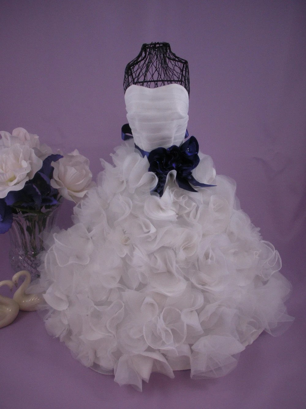 Centerpiece Custom Miniature Bridal Gown Wedding Keepsake or