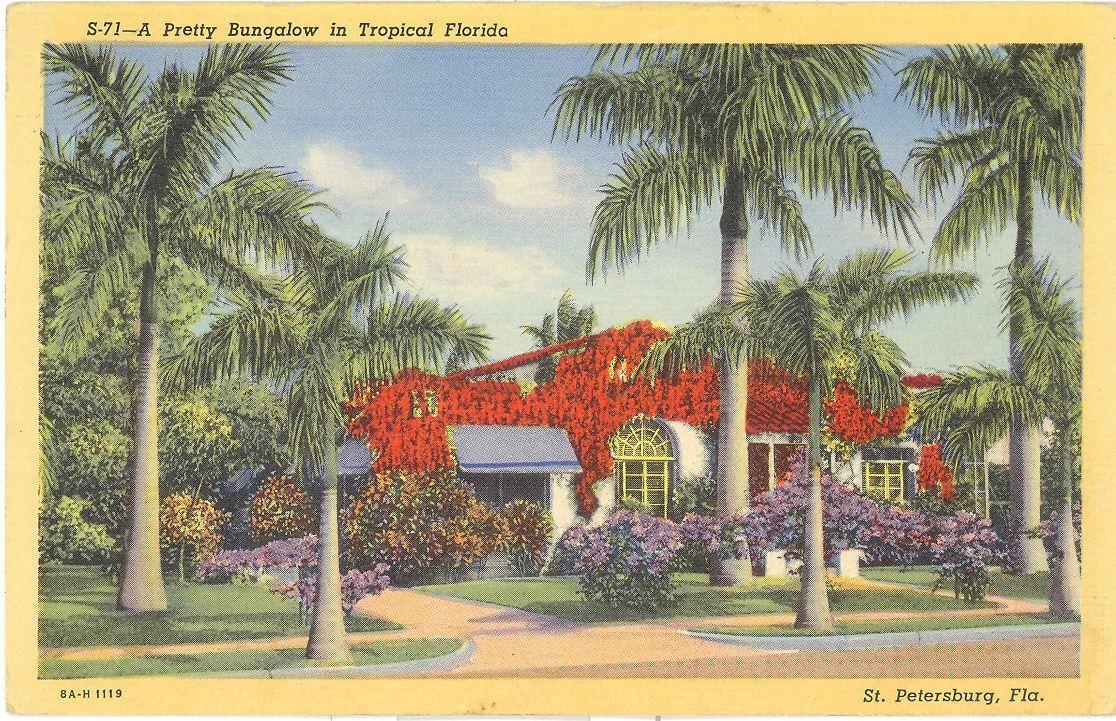vintage postcard back