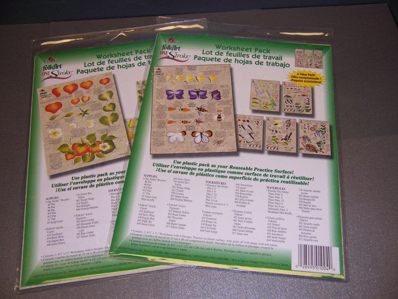 Plaid One Stroke Folkart Donna Dewberry Worksheet Pack