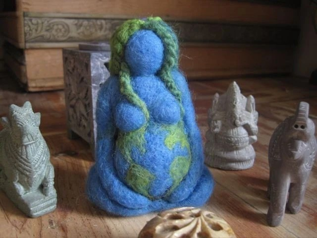 Mother Earth - blue - Original design by Borbala Arvai, MADE TO ORDER - boridolls