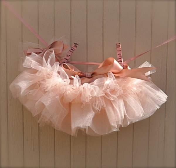 Baby Ballerina Antique Pink Newborn Tutu. Teeny Tiny And