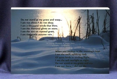 Card Poems Sleep I Grave Memorial And There Do I Am Weep Not Stand Do Not My Not