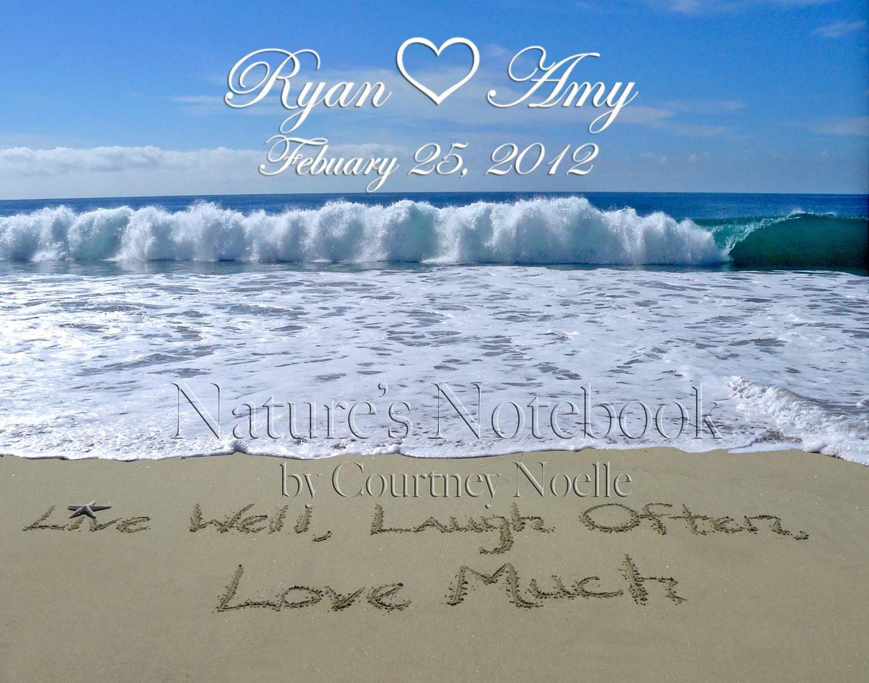 Unique Beach Wedding Gift Day Gift By Writinginthesand On Etsy