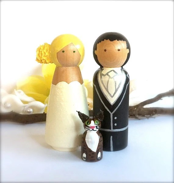 Items Similar To Custom Wood WEDDING CAKE TOPPER With Pet