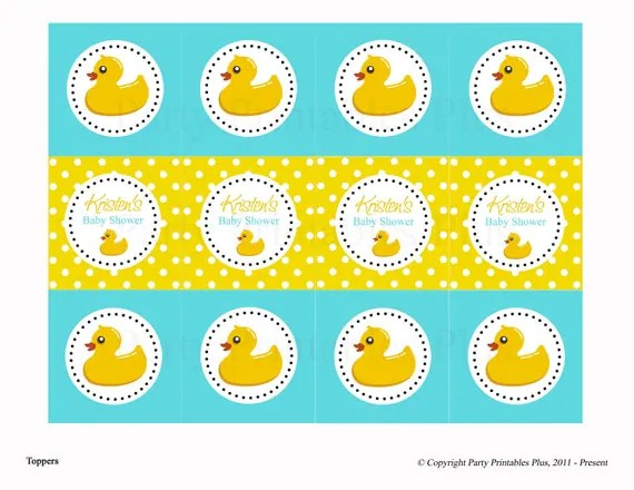 Yellow Ducks Baby Shower Theme