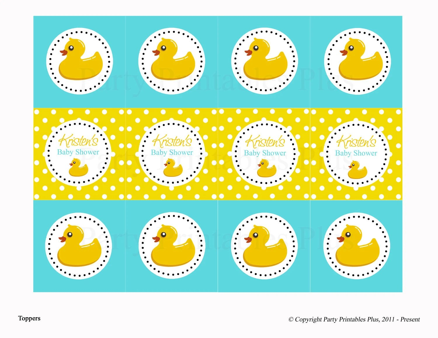 Items Similar To Rubber Ducky Baby Shower Diy Digital