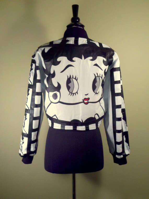 1980s Vintage Betty Boop Leather Jacket