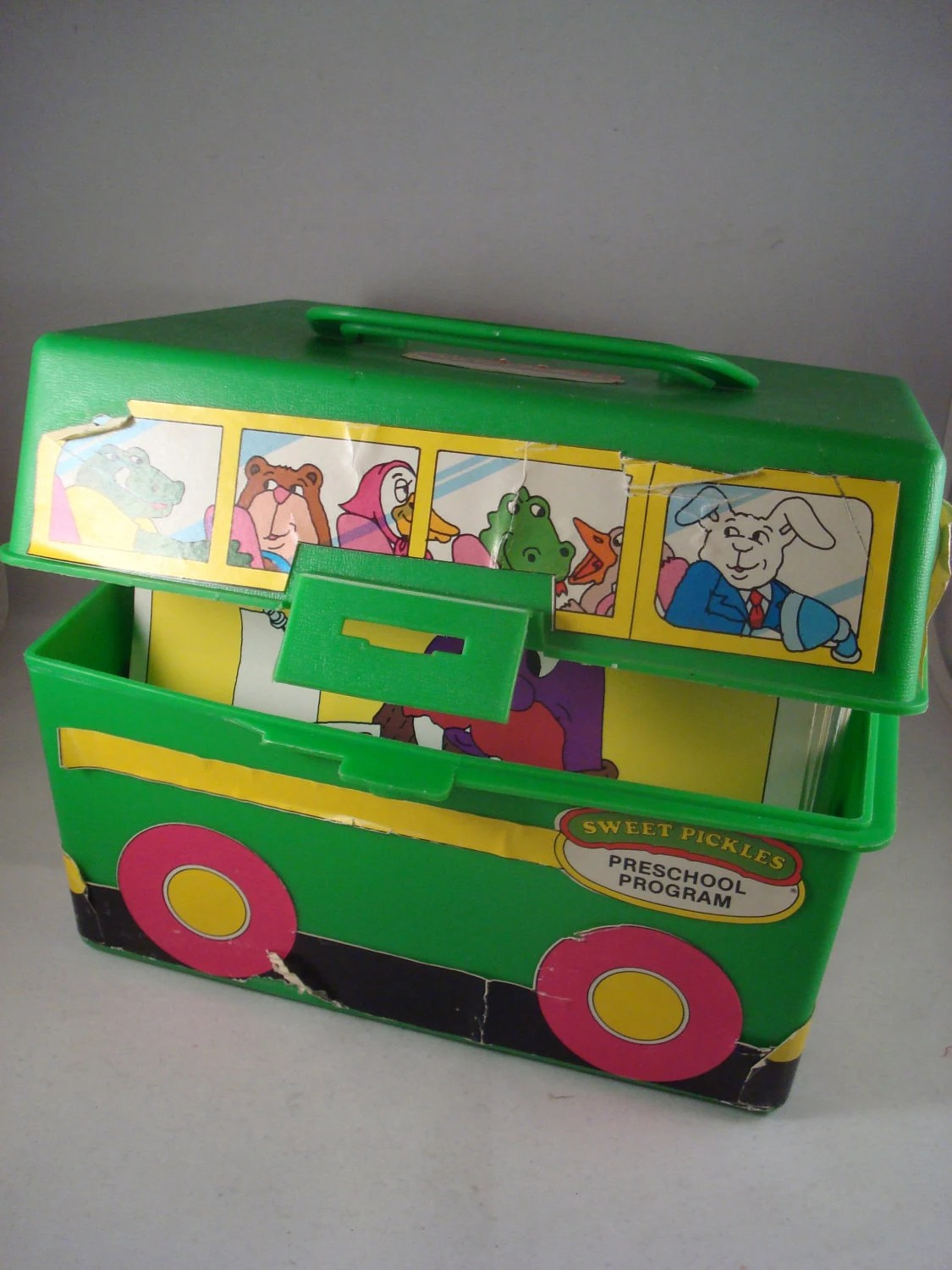 Rare Vintage Sweet Pickles School Bus Preschool Program