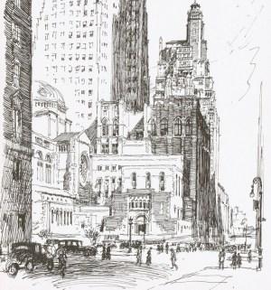 pencil sketch york street