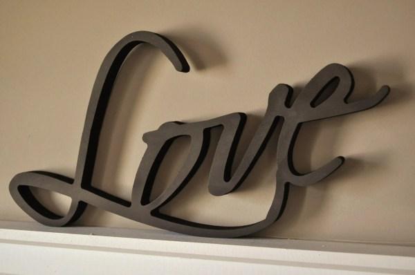 Items Similar Word Art Wood 3d Cutout 'love' Mrc