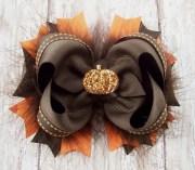 pumpkin bow fall thanksgiving