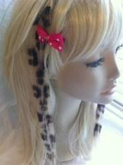 leopard print black blonde clip