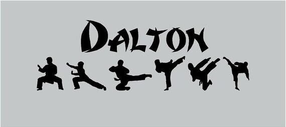 Karate Kid Martial Arts PERSONALIZED Name by