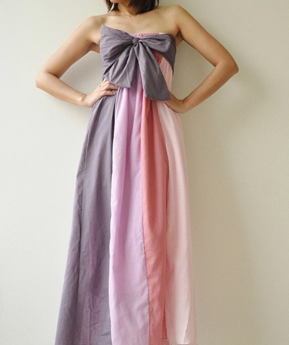 The Line Part II ...Pink Purple Maxi Cotton dress - aftershowershop