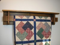 Reclaimed wood 6 foot quilt rack with shelf TC95