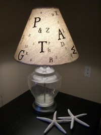 ON SALE Alphabet lamp shade