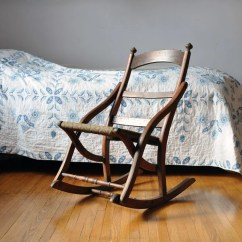 Antique Victorian Folding Rocking Chair Slipcover For