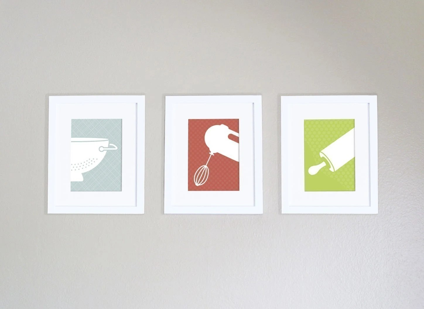 Modern Kitchen Art Prints Set of 3