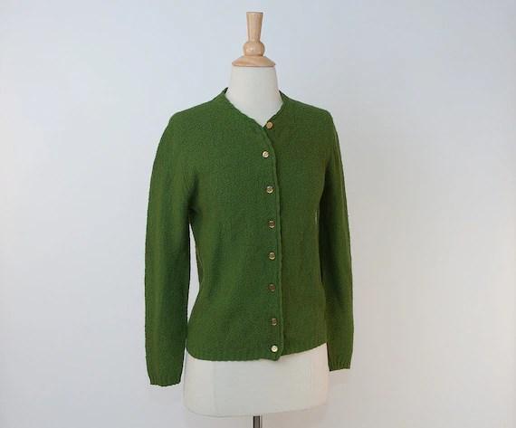1960s Moss Green Cardigan Sweater  sale