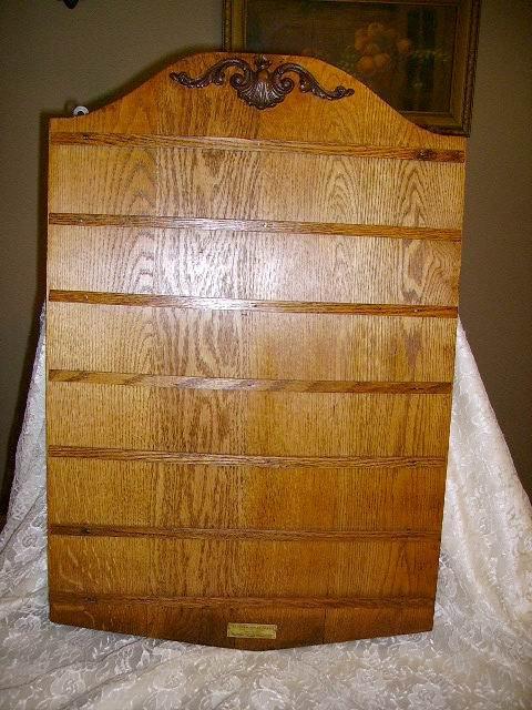 Antique Vintage Solid Oak Church Attendance Offering Board