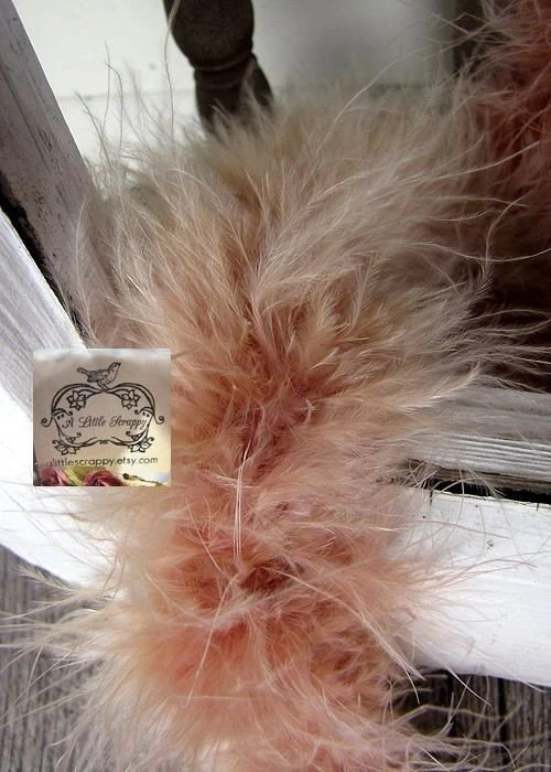Marabou Boa Feathers Tan Rose - aLittleScrappy