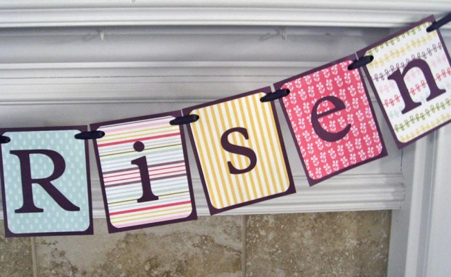 Easter Banner He Is Risen Home Decor Wall Decor By