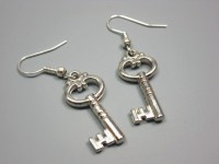 Acrylic Key Earrings quirky earrings funky earrings funny