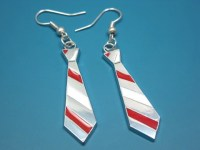 Items similar to Nerdy Necktie Earrings - geek jewelry ...