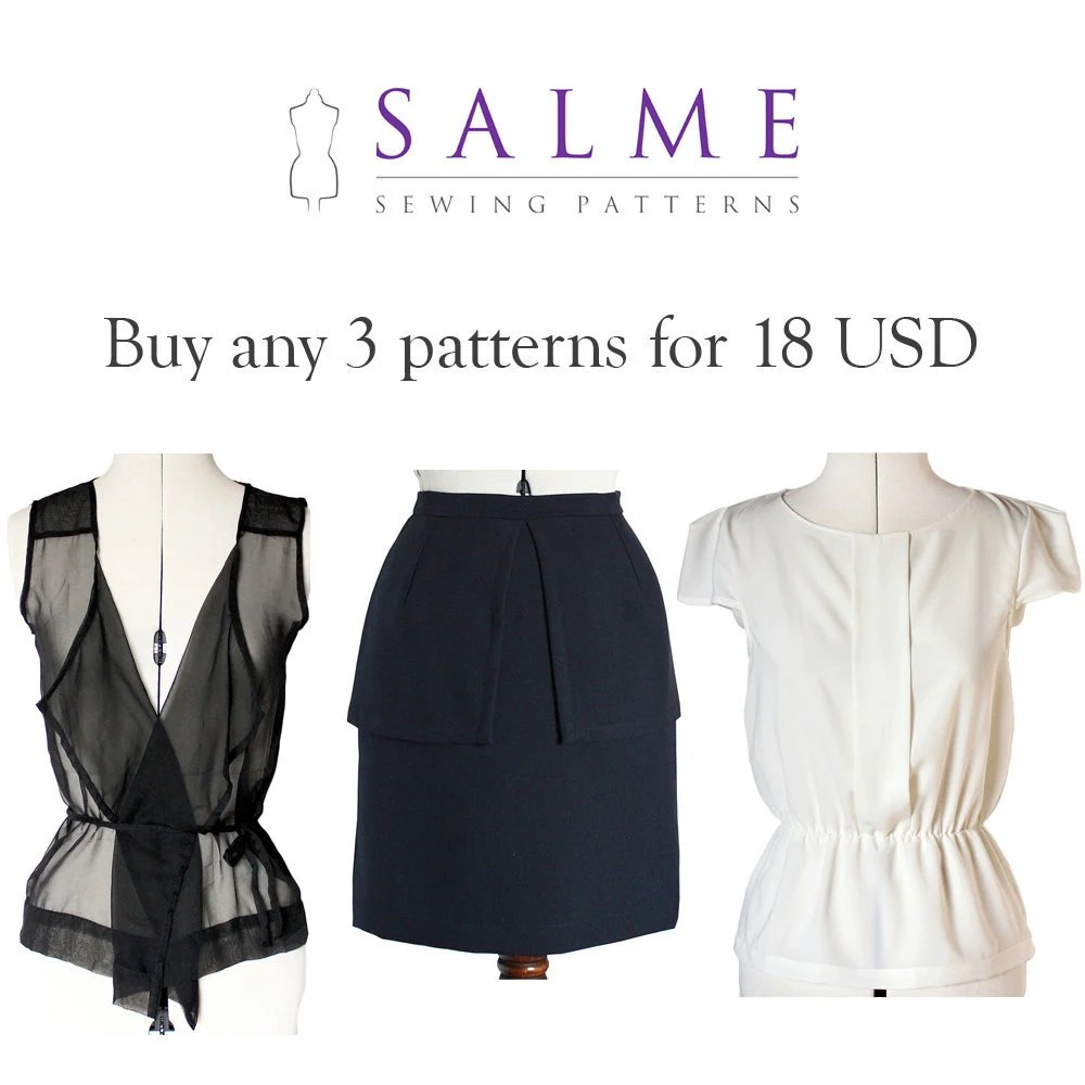PDF Sewing patterns - Buy any 3 for 18 USD