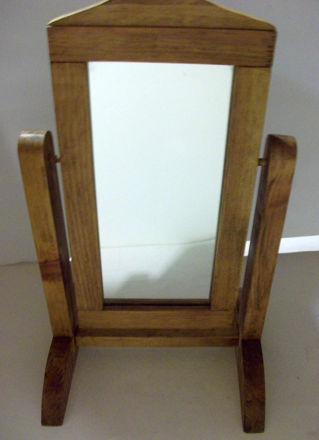 Wooden Floor Mirror Stand for 18 doll by newtwoyou on Etsy
