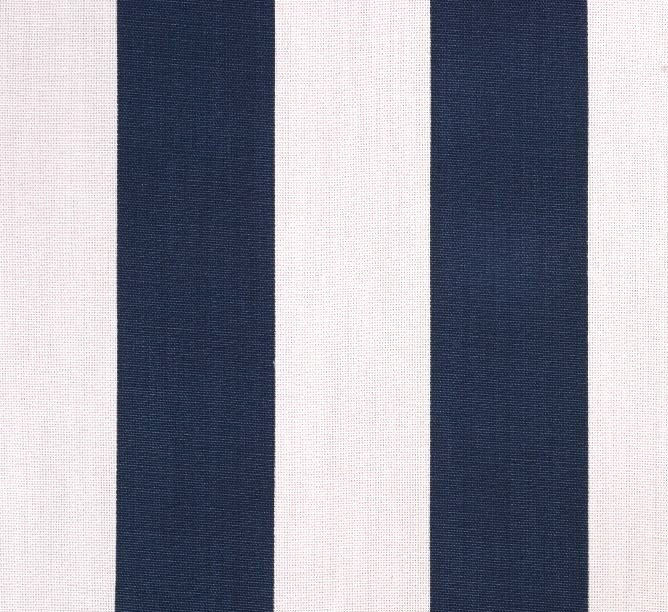 Navy Blue and White Stripe Fabric Indoor Outdoor Fabric Pillow