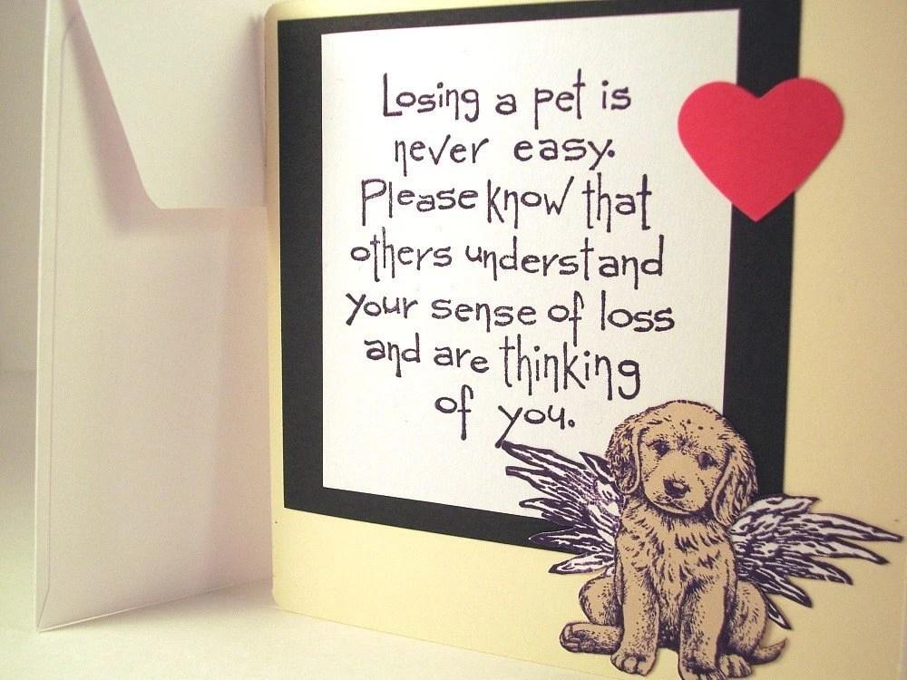 Dog Sympathy Sentiments