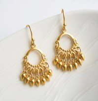 Gold Wedding Rings: Indian Gold Jewelry Earrings