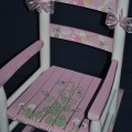 Hand painted girls pink fairy princess kids rocking chair on etsy