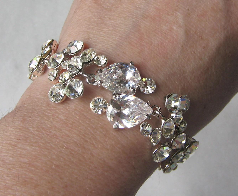 Delicate Rhinestone Bracelet Swarovski Crystal Bridal