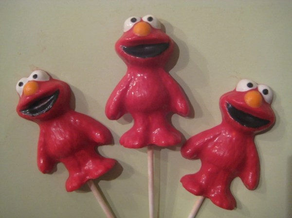 24-chocolate Elmo Lollipop Favors Delightfulchocolates