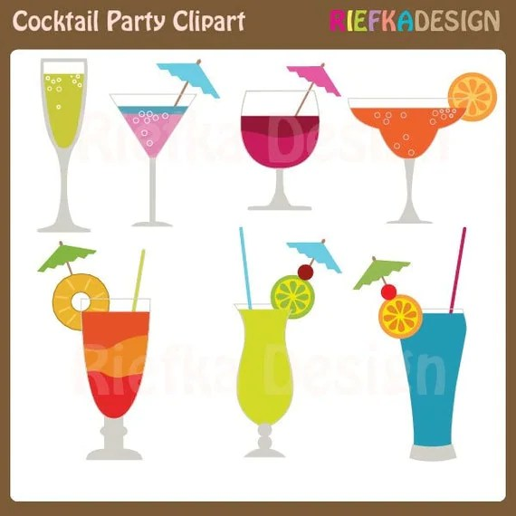 Items Similar To Cocktail Party Clip Art On Etsy