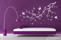 Kids Wall Decals Purple Cherry Blossom Decal Kids Wall Art