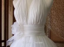 Retro Inspired Tea Length Wedding Dress. Vintage Style Bridal