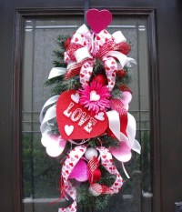 Valentine Wreath Valentine's Day Door Wreath Candy
