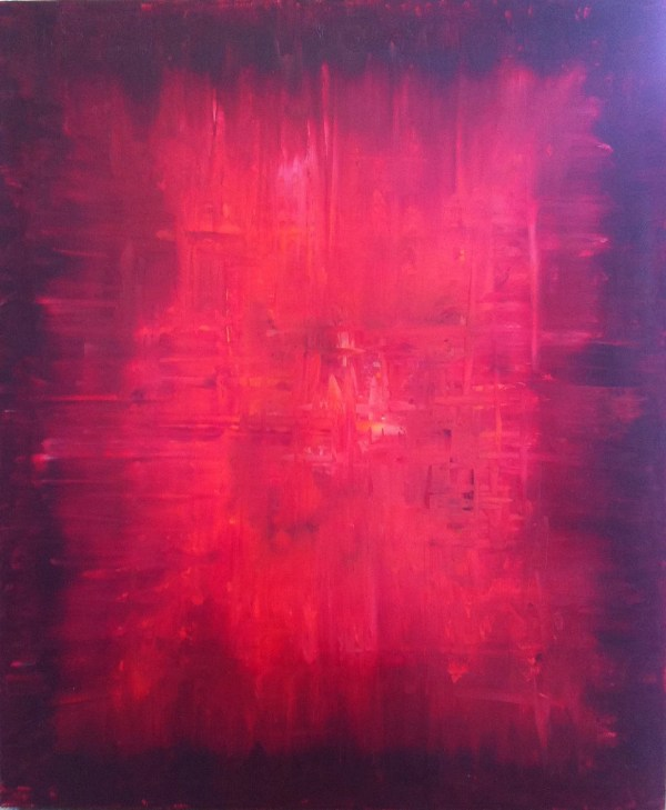Items Similar Red Abstract Art Simple Painting