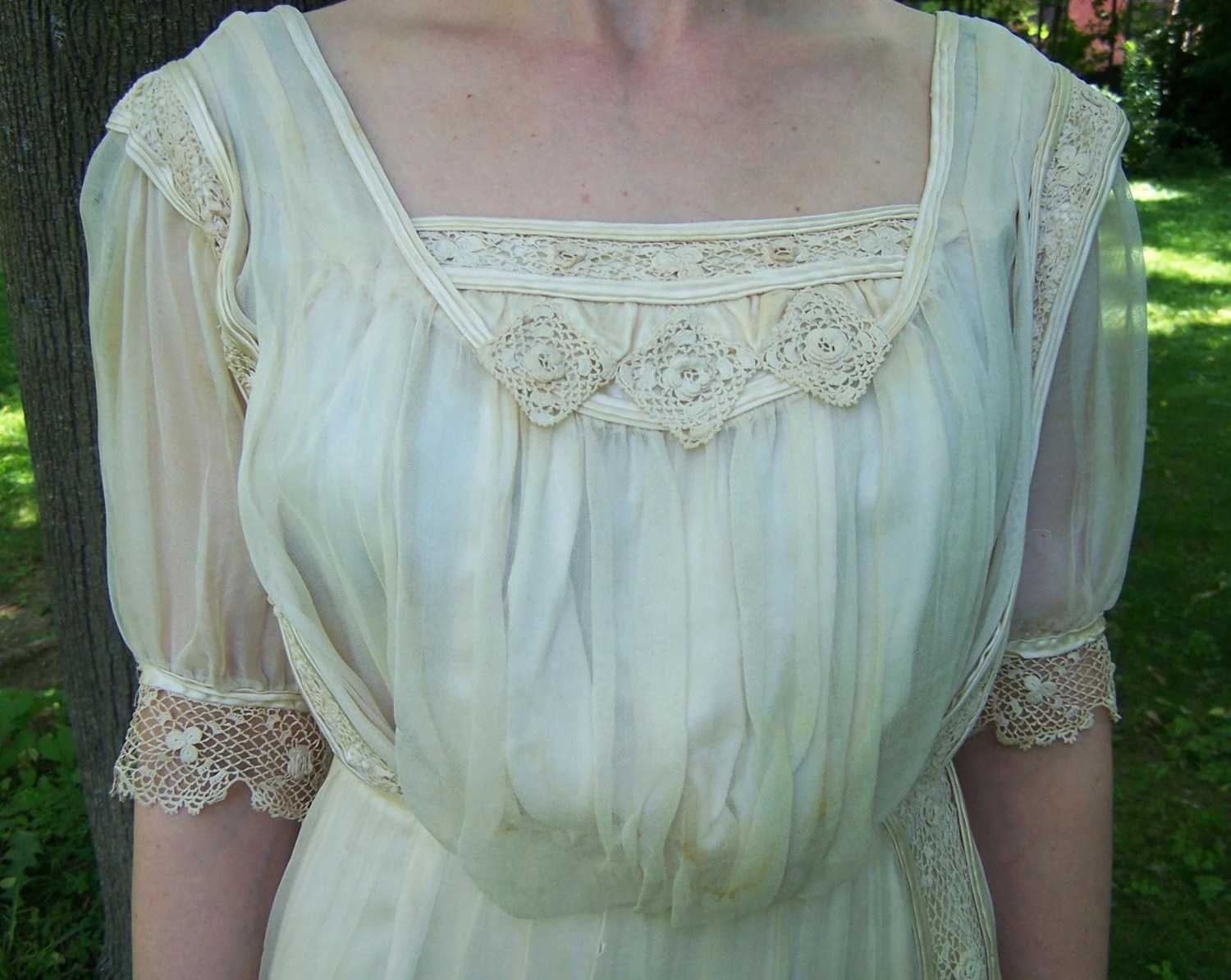 Antique Silk And Irish Lace Gibson Girl Wedding By Theladyslipper