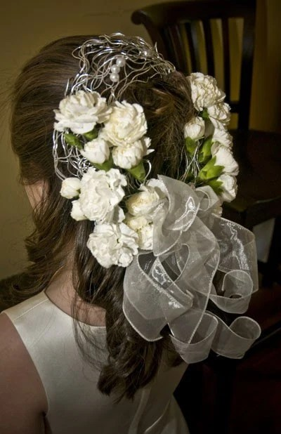 Items Similar To Flower Girl WEDDING HEADPIECE Casque