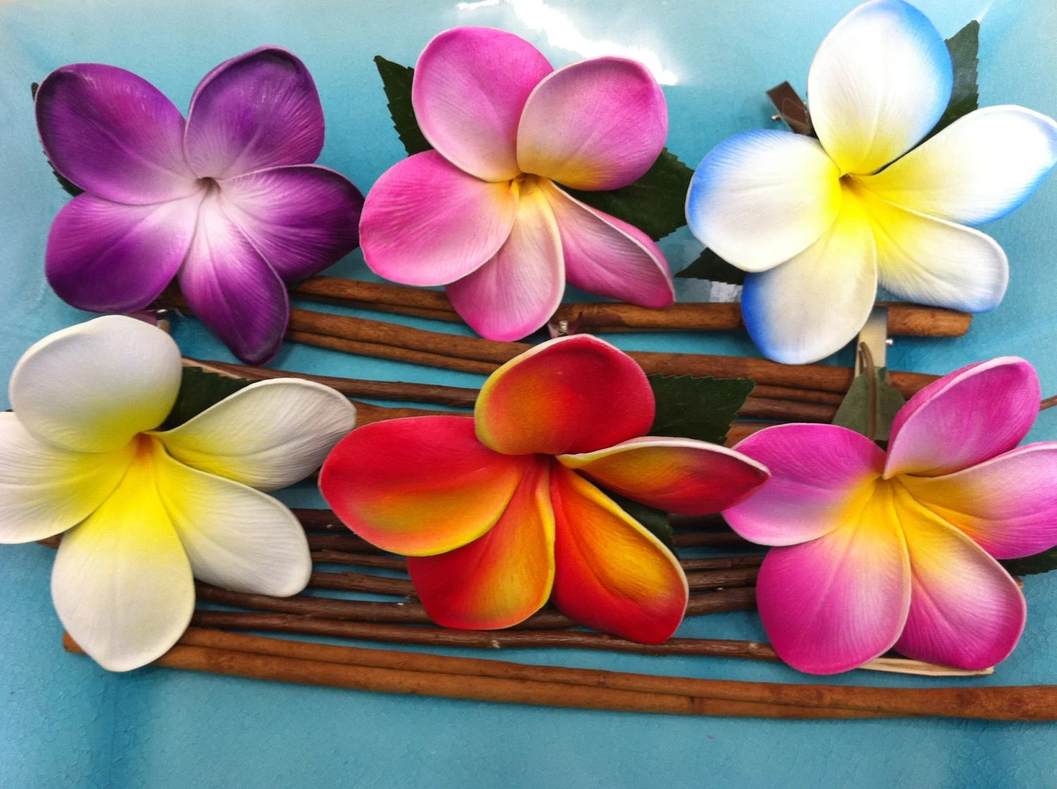 You Choose 3x Plumeria Flower Clips By Flowersbythevase On Etsy