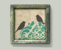 Love Bird Print French Country Bird Wall Decor Art Cottage