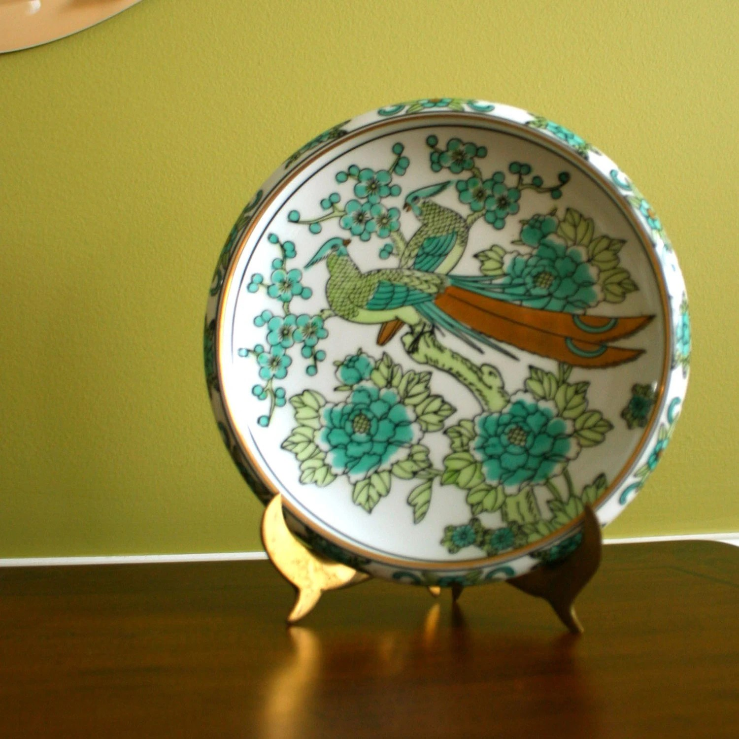 Vintage Imari Decorative Plate Handpainted By RhapsodyAttic