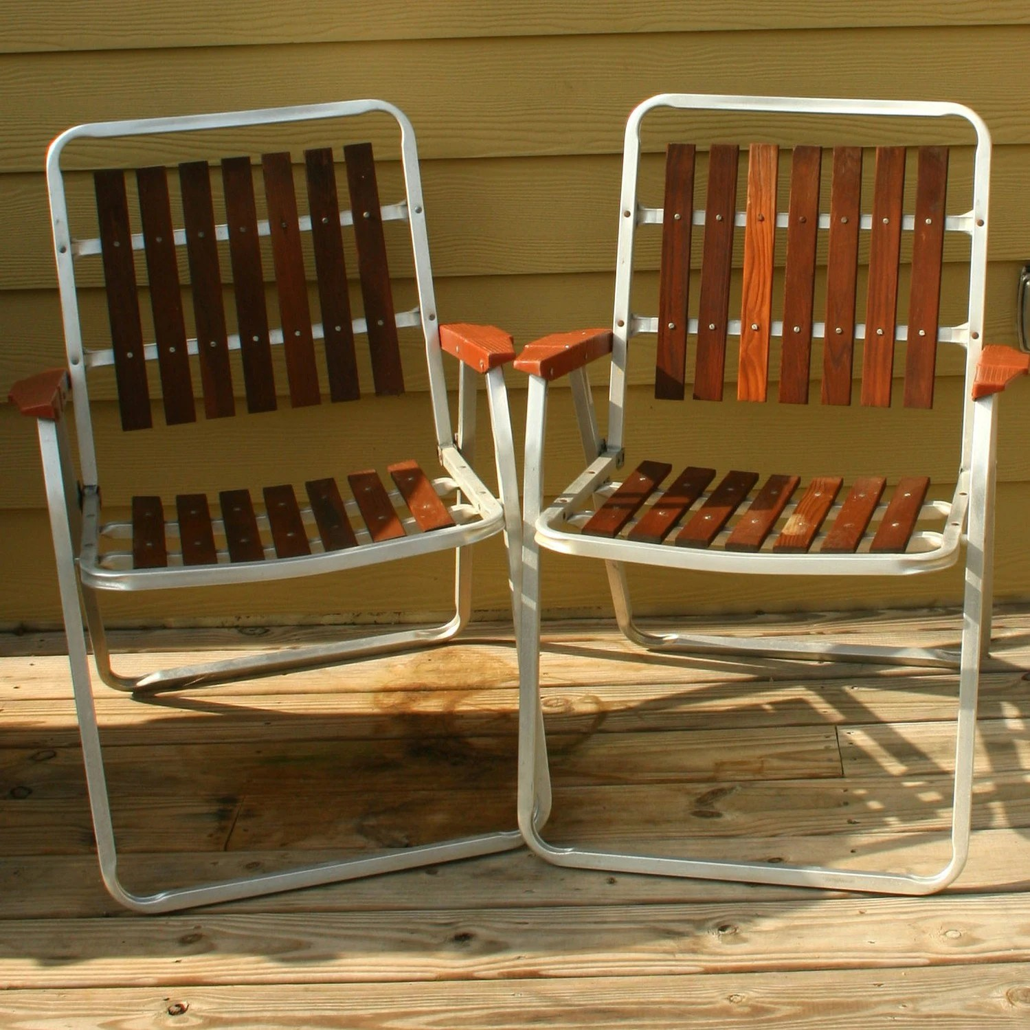 wood lawn chair physio ball base vintage folding chairs mid century modern wooden slats