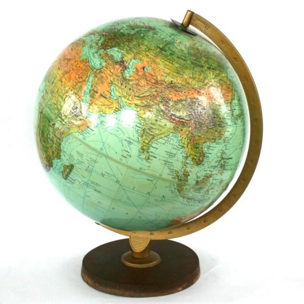 Vintage World Book Globe Replogle Unisex Gift Men centric