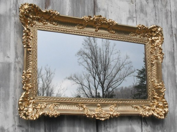 Hollywood Regency Mirror Gold Baroque Victorian Restaurant